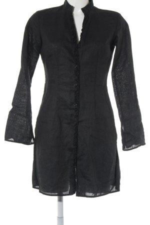 Sisley Robe chemise noir style décontracté