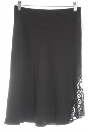 Sisley High Waist Rock schwarz Casual-Look