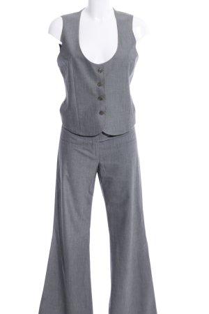 Sisley Tailleur pantalone grigio chiaro puntinato stile professionale