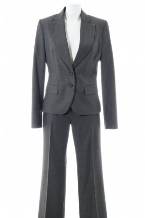 Sisley Hosenanzug hellgrau meliert Business-Look