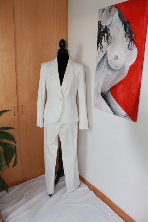 Sisley Traje de pantalón blanco-negro