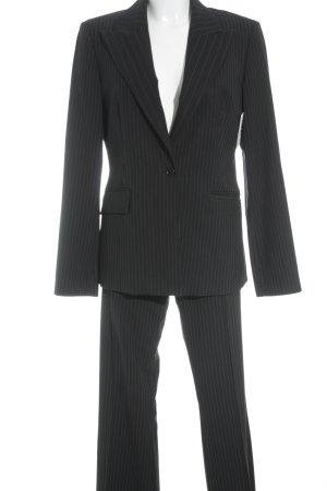 Sisley Hosenanzug dunkelblau-kornblumenblau Nadelstreifen Business-Look