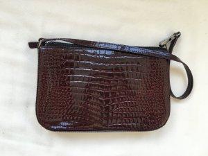 Sisley - Hübsche Bordeaux Clutch/ Abendhandtasche in Lackoptik
