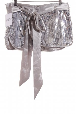 Sisley Hüfthose hellgrau-silberfarben extravaganter Stil