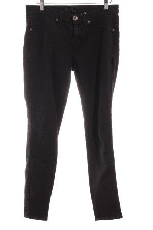 Sisley Hüfthose schwarz schlichter Stil