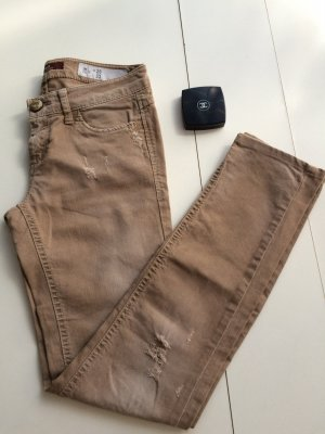 Sisley Jeans Gr. 34, 26x33, Sand, slim fit, guter Zustand