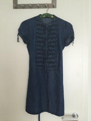 Sisley Jeans Kleid mit Schleife-Gürtel
