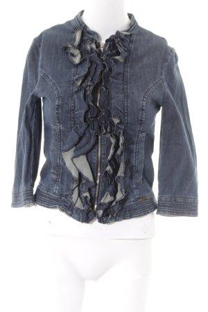 Sisley Jeansblazer blau Casual-Look