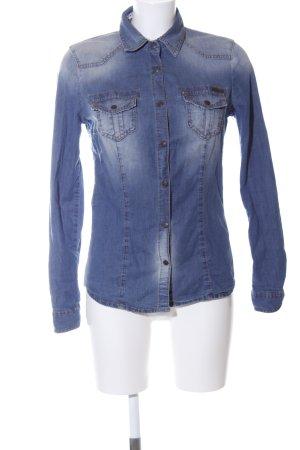 Sisley Camisa vaquera azul-blanco look casual