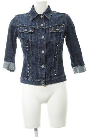 Sisley Jeansjacke dunkelblau Jeans-Optik