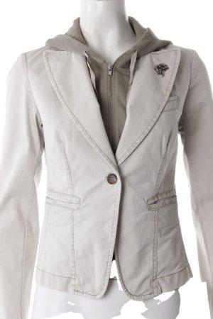 Sisley Jeansjacke mit Sweatdetail Beige Khaki