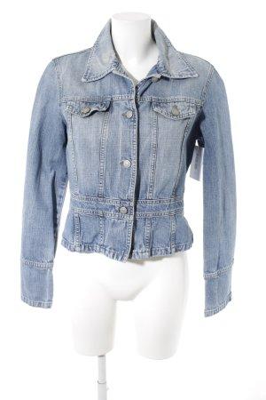 Sisley Jeansjacke stahlblau Jeans-Optik