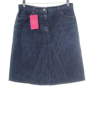 Sisley Denim Skirt dark blue casual look