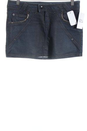 Sisley Jeansrock dunkelblau Street-Fashion-Look