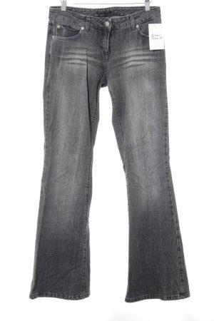 Sisley Jeans flare gris style délavé