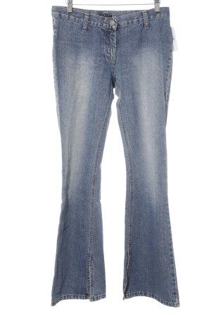 Sisley Jeansschlaghose stahlblau Washed-Optik