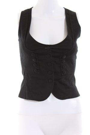 Sisley Denim Vest black casual look