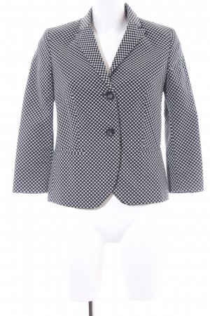 Sisley Jerseyblazer schwarz-wollweiß Punktemuster Business-Look