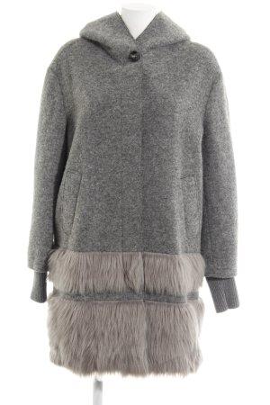 Sisley Manteau à capuche gris foncé-gris molletonné