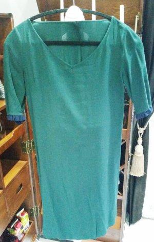 Sisley Kleid grün blau S XS 36 34