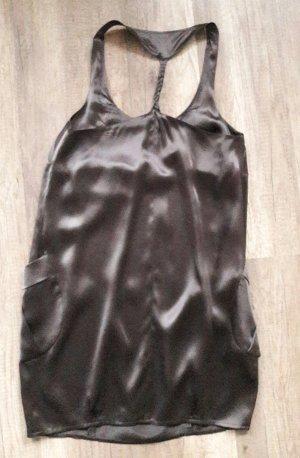 Sisley Kleid Seide Seidenkleid Ballonkleid Racerback Oversize Loose fit
