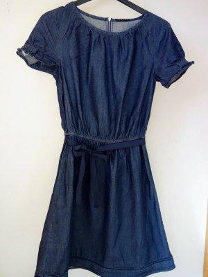 SISLEY Kleid tailliert in Jeansoptik / Jeanskleid