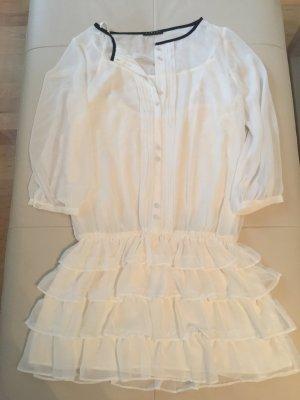 Sisley Kleid Tunika Chiffon Volants