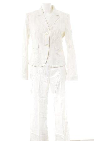 Sisley Kostüm wollweiß-hellgrau Streifenmuster Business-Look