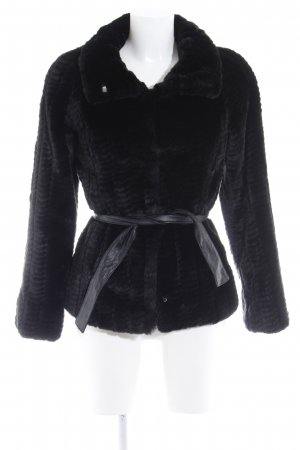 Sisley Fake Fur Jacket black elegant