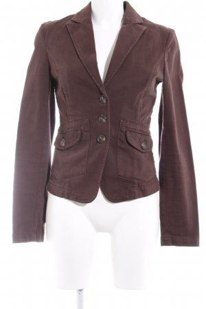 Sisley Kurz-Blazer braun Business-Look