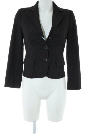 Sisley Kurz-Blazer schwarz Streifenmuster Business-Look