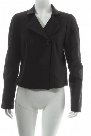 Sisley Kurz-Blazer schwarz Business-Look