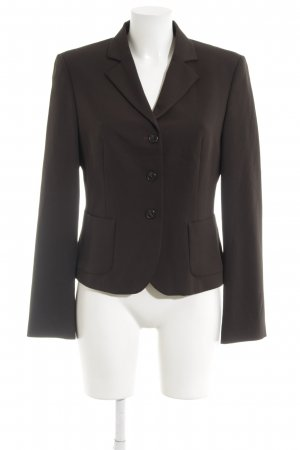 Sisley Kurz-Blazer schwarzbraun Business-Look