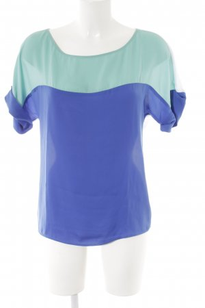 Sisley Kurzarm-Bluse Colourblocking Casual-Look