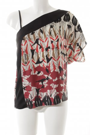 Sisley Kurzarm-Bluse grafisches Muster Elegant