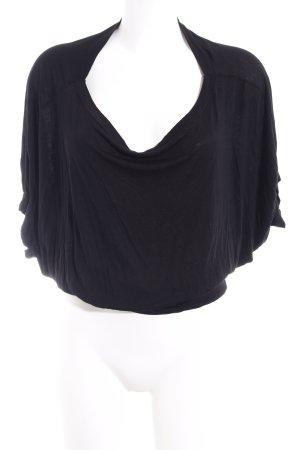 Sisley Kurzarm-Bluse schwarz Casual-Look