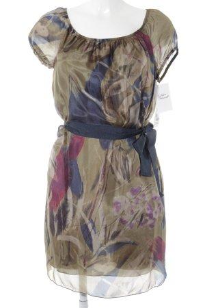 Sisley Kurzarmkleid abstraktes Muster Elegant