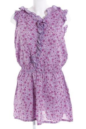Sisley Kurzarmkleid helllila-violett Blumenmuster Casual-Look