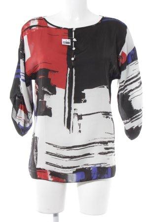Sisley Langarm-Bluse abstraktes Muster Elegant