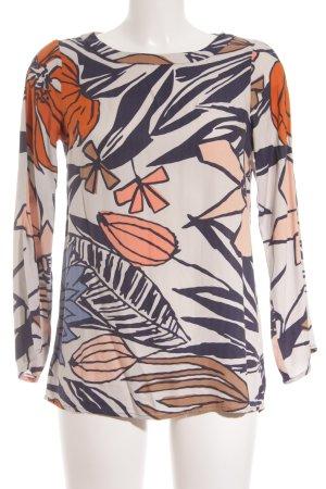 Sisley Langarm-Bluse florales Muster Casual-Look