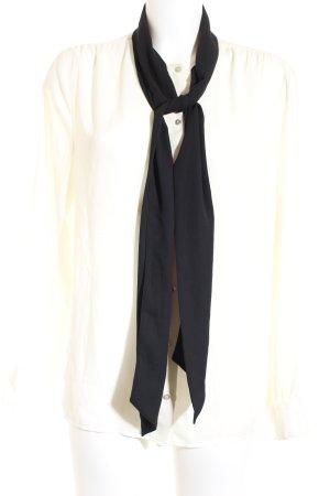 Sisley Langarm-Bluse schwarz-weiß Casual-Look