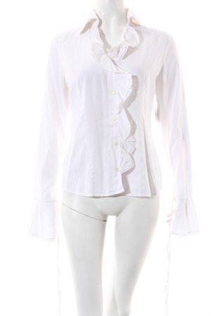 Sisley Langarm-Bluse weiß Street-Fashion-Look