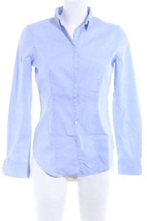 Sisley Langarmhemd hellblau meliert Business-Look