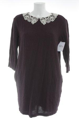 Sisley Langarmkleid purpur-weiß meliert Casual-Look