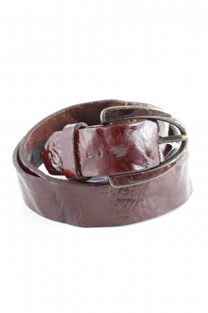 Sisley Leather Belt brown red distressed style
