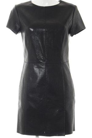Sisley Lederkleid schwarz Elegant