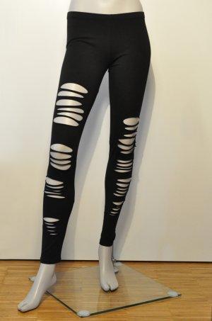 Sisley Leggings mit Rissen / Löchern schwarz M UNGETRAGEN