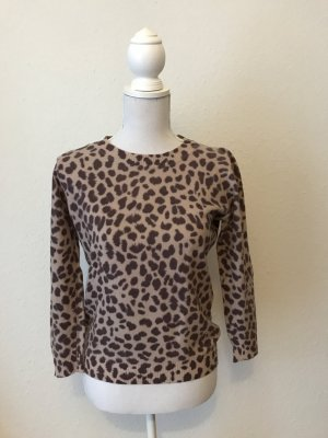 SISLEY Leoprint Pullover aus Wolle