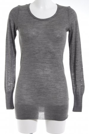 Sisley Jersey largo gris look casual