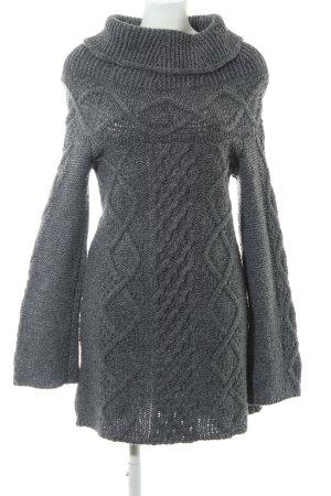 Sisley Lange jumper grijs losjes gebreid patroon casual uitstraling